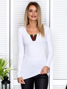 Bluzka Sheandher.pl w stylu casual z dekoltem w kształcie litery v