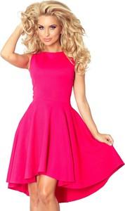 Różowa sukienka NUMOCO mini asymetryczna