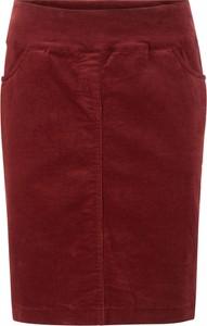 Czerwona spódnica bonprix bpc bonprix collection ze sztruksu