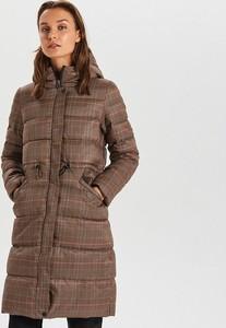 Brązowy płaszcz Cropp w stylu casual