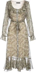 Sukienka Multu z dekoltem w kształcie litery v z długim rękawem