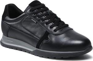 Czarne buty sportowe Wojas ze skóry