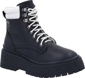 Czarne trapery damskie Pepe Jeans