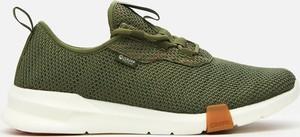 Zielone buty sportowe Cropp ze skóry sznurowane