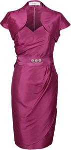 Sukienka Fokus w stylu klasycznym z krótkim rękawem asymetryczna