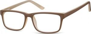 Stylion Okulary Zerówki oprawki Sunoptic CP157G brązowo-kremowe
