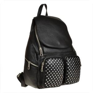 0044528cd9e88 plecak skórzany czarny - stylowo i modnie z Allani