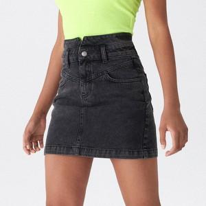 Czarna spódnica House w street stylu mini z jeansu