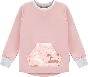 Różowa bluzka dziecięca Ekoubranka z dzianiny