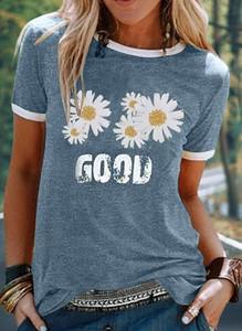 T-shirt Sandbella z okrągłym dekoltem z krótkim rękawem