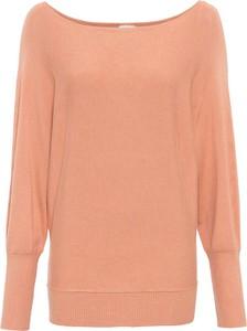Pomarańczowy sweter bonprix w stylu casual