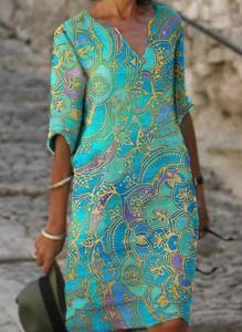 Sukienka Sandbella midi z długim rękawem
