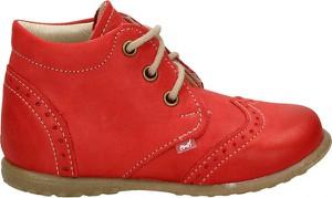 Czerwone buty dziecięce EMEL, kolekcja jesień 2019
