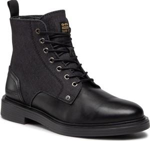 Czarne buty zimowe G-Star Raw w stylu casual