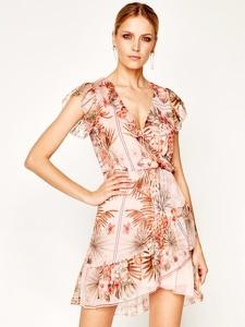 Sukienka Liu-Jo w stylu boho mini z krótkim rękawem