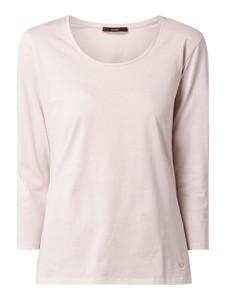 Różowa bluzka Windsor z długim rękawem z okrągłym dekoltem