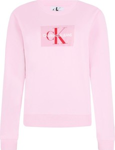 bluza calvin klein damska różowa z kapturem