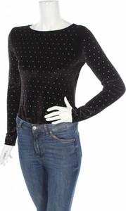 Czarna bluzka Club L z okrągłym dekoltem z długim rękawem