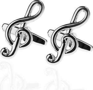 Em Men`s Accessories Spinki do mankietów tematyczne srebrne klucz wiolinowy EM 61