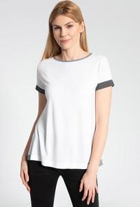Bluzka QUIOSQUE w stylu casual z krótkim rękawem z okrągłym dekoltem