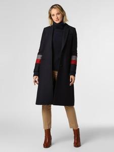 Granatowy płaszcz Tommy Hilfiger w stylu casual z kaszmiru