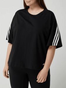 Czarna bluzka Adidas Performance z krótkim rękawem