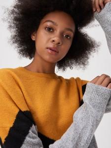 Sweter Sinsay w geometryczne wzory