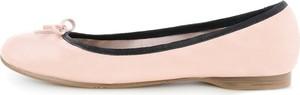Prima moda jasnoróżowe baleriny ze skóry licowej z kokardką isili