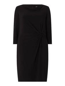 Czarna sukienka Ralph Lauren z długim rękawem mini z okrągłym dekoltem