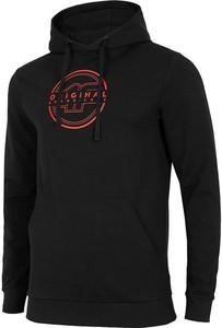 Czarna bluza 4F z nadrukiem