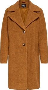 Brązowy płaszcz Only z wełny