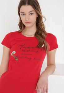 T-shirt born2be z bawełny z krótkim rękawem w młodzieżowym stylu