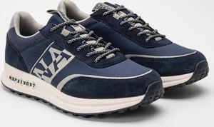 Buty sportowe Napapijri w sportowym stylu ze skóry
