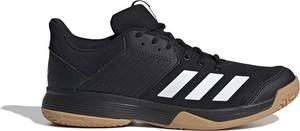 Czarne buty sportowe Adidas ze skóry sznurowane