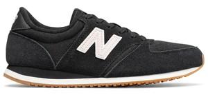 Granatowe buty sportowe New Balance na koturnie z zamszu