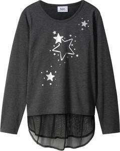 Czarna bluzka dziecięca bonprix bpc bonprix collection