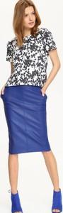 Niebieska spódnica Top Secret w stylu casual
