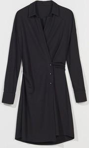 Czarna sukienka Mohito mini szmizjerka