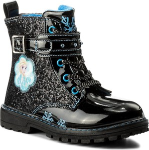 Czarne buty dziecięce zimowe Disney Frozen