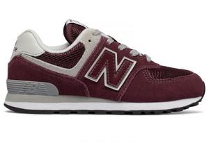Czerwone buty New Balance z zamszu