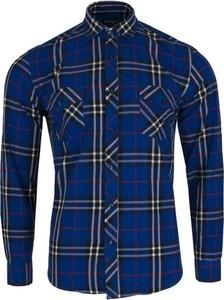 Granatowa koszula Speed.A w stylu casual
