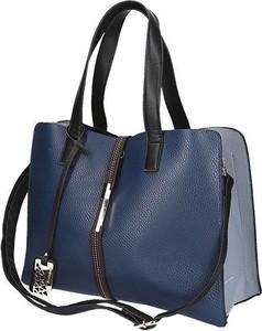Niebieska torebka Kevin Jeans duża w stylu casual na ramię