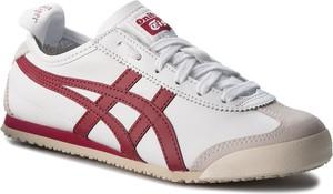 Buty sportowe ASICS w sportowym stylu z płaską podeszwą ze skóry