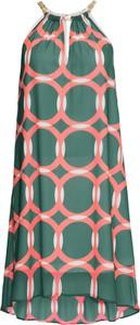 Sukienka bonprix BODYFLIRT boutique trapezowa mini z okrągłym dekoltem