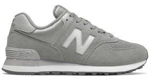 Buty sportowe New Balance z zamszu sznurowane w sportowym stylu