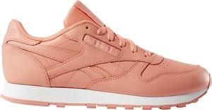Różowe buty sportowe Reebok ze skóry
