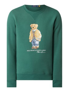 Zielona bluza POLO RALPH LAUREN w młodzieżowym stylu z nadrukiem