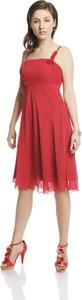 Sukienka Fokus rozkloszowana w stylu glamour midi
