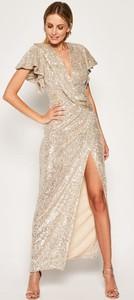 Sukienka Babylon z krótkim rękawem maxi