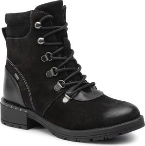 Czarne buty dziecięce zimowe Lasocki Young sznurowane